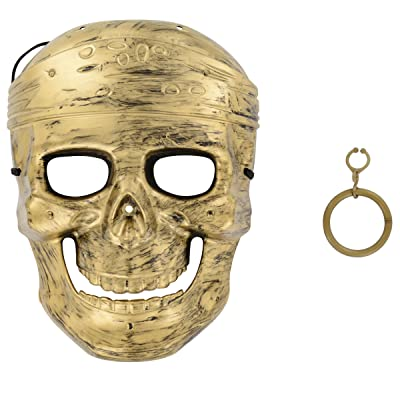 Kid's Pirate Mask and Earring Set: Clothing