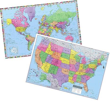 Amazoncom Cool Owl Maps United States World 3D Wall Maps 36