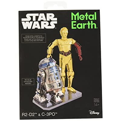 Fascinations Metal Earth Star Wars R2-D2 and C-3PO 3D Metal Model Kit Box Set: Toys & Games