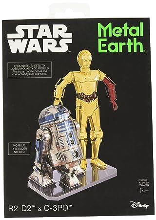 Tierra del Metal C3PO y R2D2 Juego de Modelos Metal Coloreado