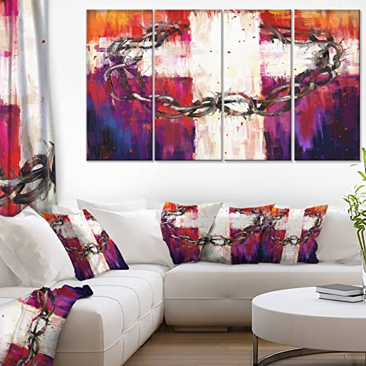 """PREMIUM RED BLACK GREY ABSTRACT CANVAS ARTWORK PICTURE MULTI 4 PANEL 40/"""" X 28/"""""""