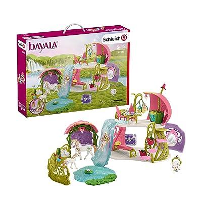 SCHLEICH Glittering Flower House with Unicorns: Schleich: Toys & Games