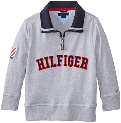 b2ae227b Tommy Hilfiger Toddler Boys' 1/4 Zip Fleece, Grey Heather, 02 Regular