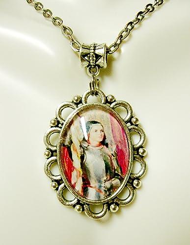 Amazon saint joan of arc pendant and chain ap05 303 handmade saint joan of arc pendant and chain ap05 303 aloadofball Gallery