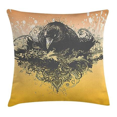 Amazon Com Emiqlandg Black Throw Pillow Cushion Cover Halloween