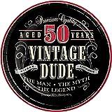 Vintage Dude 50th Birthday Dessert Plates, 24 ct