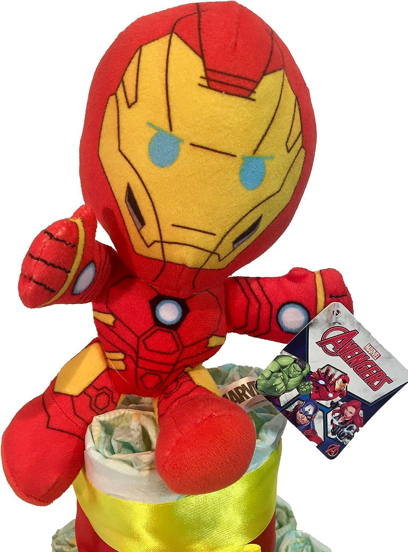 Talla 2 Tarta de pa/ñales DODOT The Avengers Iron Man 3-6 kg