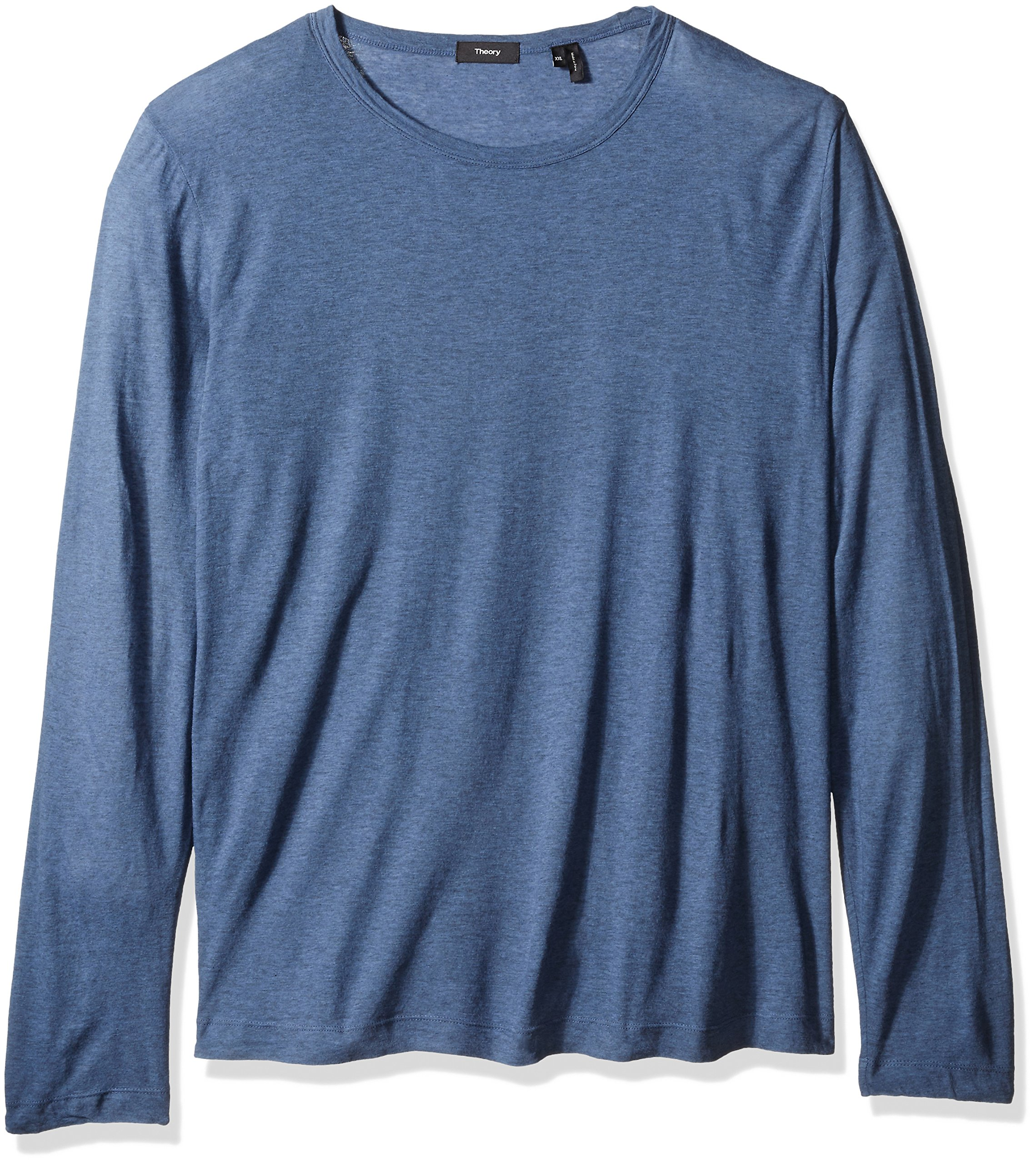 Theory Men's Gaskell Hasten Long Sleeve Tee, CY Heather, XX-Large