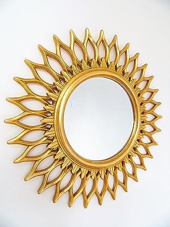 Le Chic Spiegel Rund Gold Leaf Hohl Form Sonne Spiegel Barock Rococo