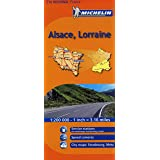 Alsace, Lorraine Michelin Regional Map (Michelin Regional Maps)
