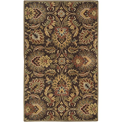 Surya CAE-1028 Caesar Chocolate 4-Feet by 6-Feet Area Rug