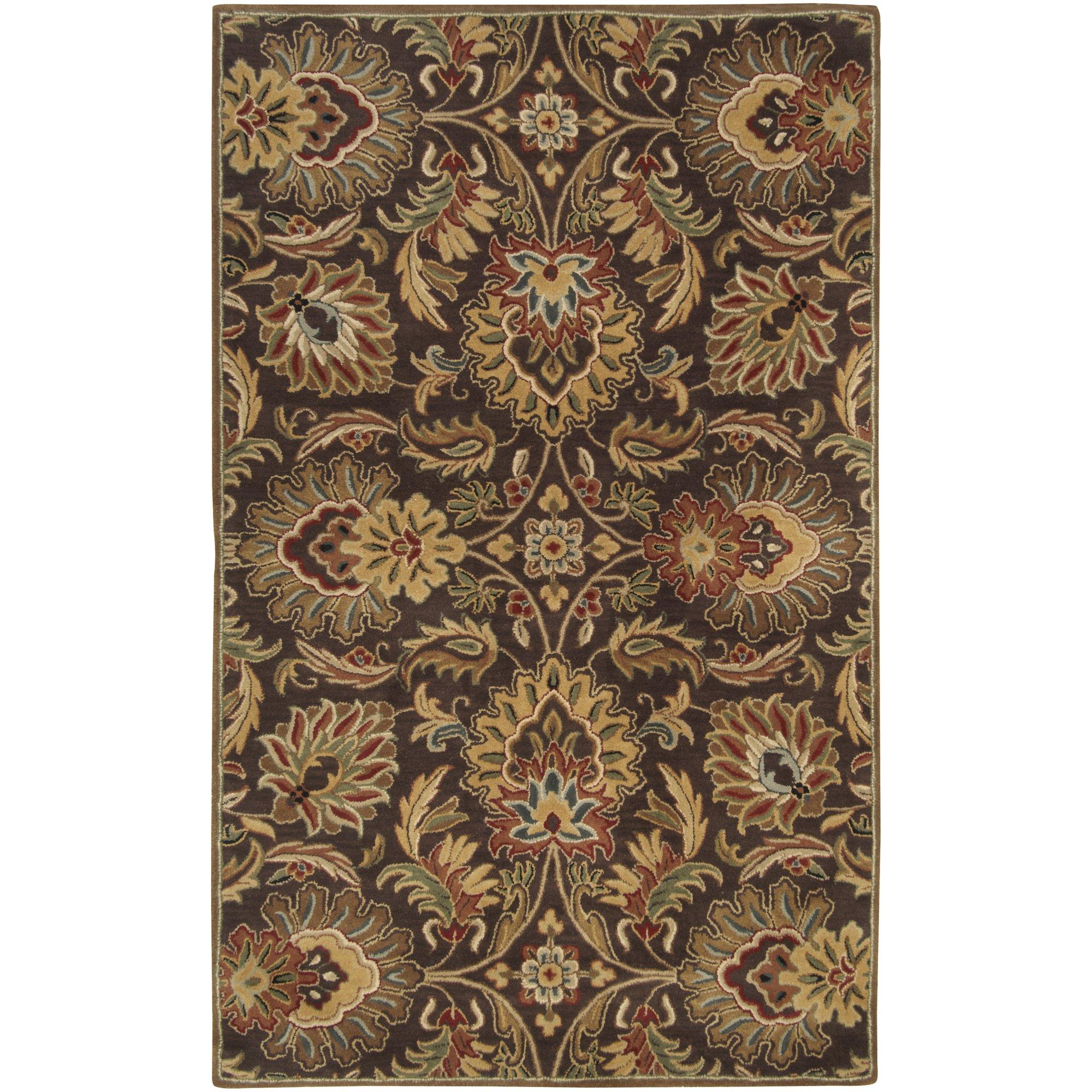 Surya Caesar CAE-1028 Classic Hand Tufted 100% Wool Dark Chocolate 2'6'' x 8' Traditional Runner