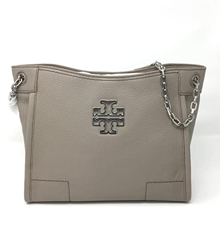 8294f38aa41 Tory Burch Britten Small Slouchy Tote In French Grey Style 390570817  Amazon .in  Shoes   Handbags