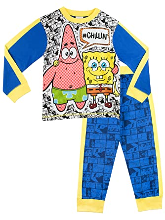 4cb1757d1 Spongebob Squarepants Boys Sponge Bob and Patrick Pyjamas  Amazon.co ...