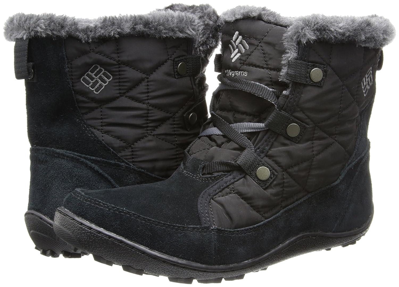 Columbia Women's Minx Shorty Omni-Heat Snow Boot B00GW8GBO8 6 B(M) US|Black, Shale