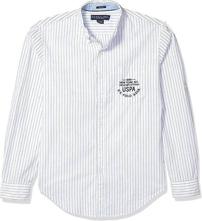 U.S. Polo Assn. Camisa Oxford a Rayas con Botones Grandes y Altos ...