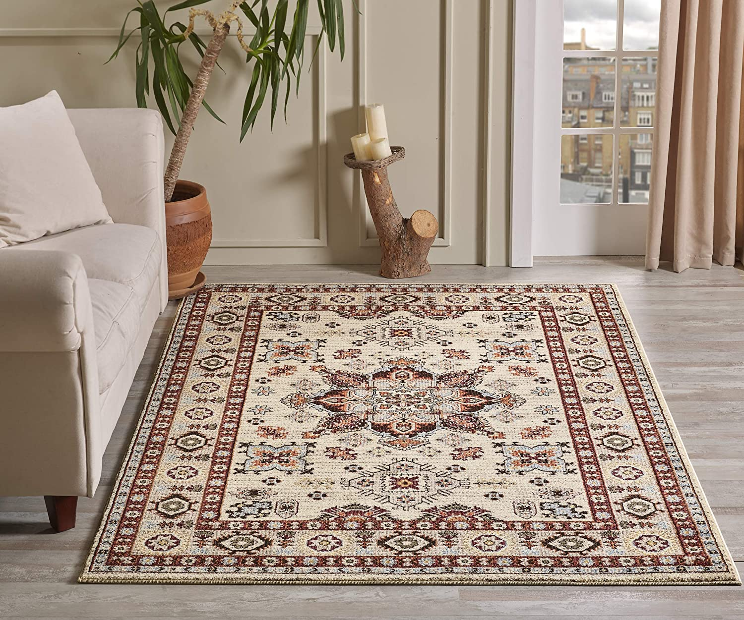 Amazon.com: GLORY RUGS Traditional Area Rug 5x7 Oriental Medallion Cream  Hand Touch Vintage Traditional Texture for Bedroom Living Dining Room 7315A  Gabbeh Collection (Cream): Kitchen & Dining
