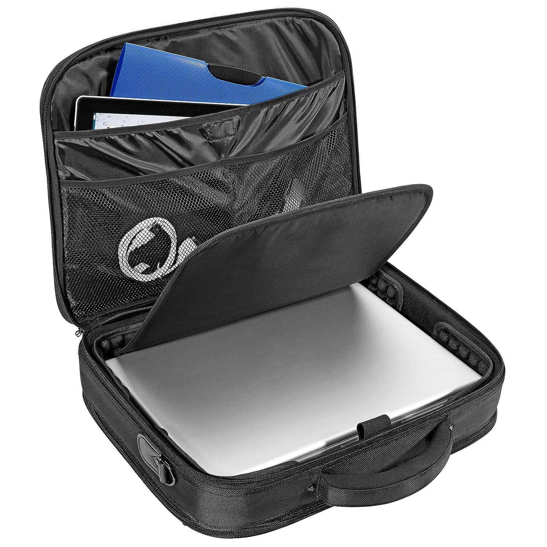 noir PEDEA Sac de messager pour ordinateurs portable jusqu/à 17,3 pouces avec compartiment pour tablettes