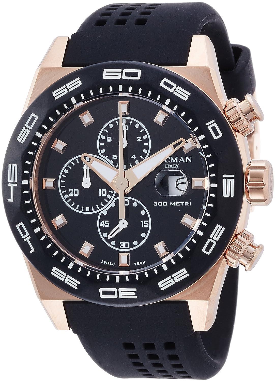 [ロックマン]LOCMAN 腕時計 STEALTH 300M 0217V5-RKBK5NS2K メンズ 【正規輸入品】 B014H3PGVS