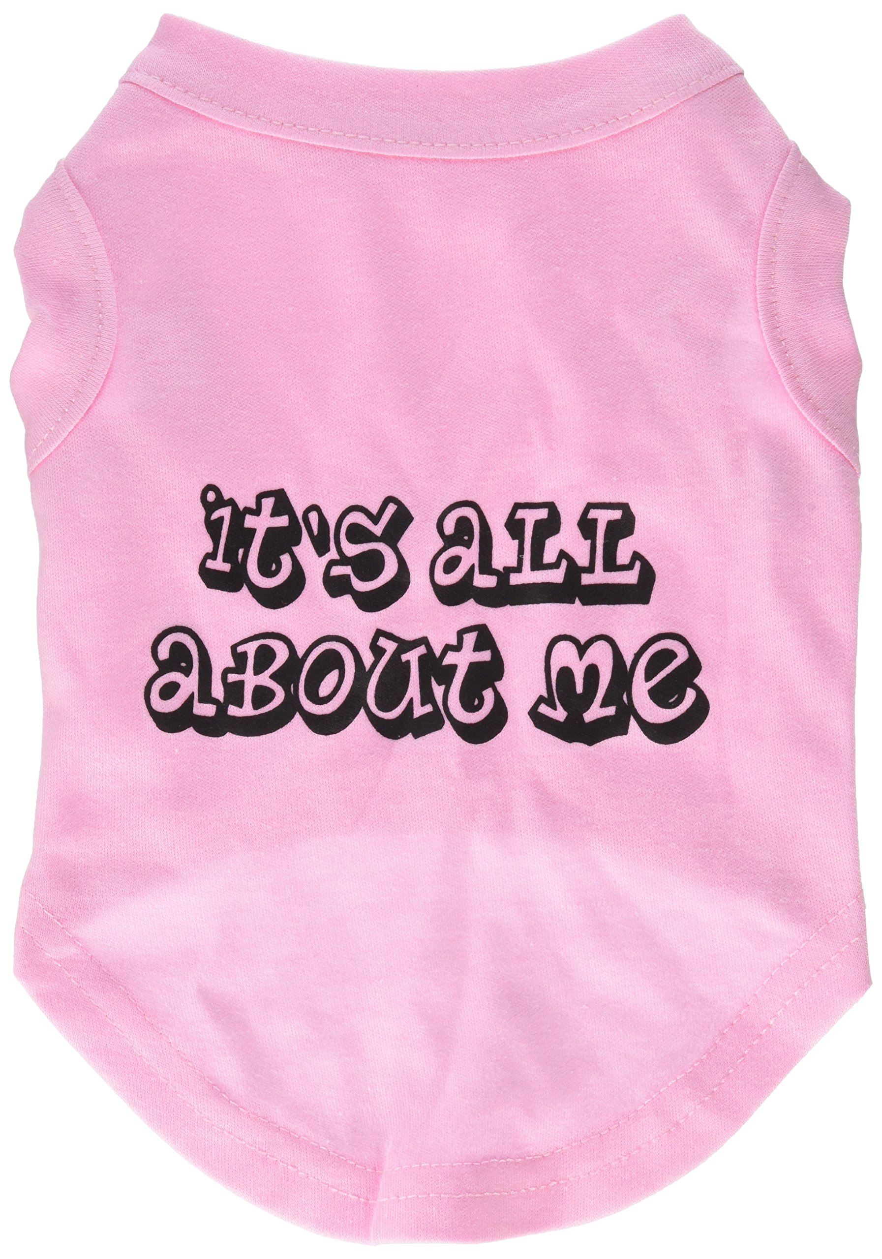 Mirage Pet Products 10-Inch It's All About Me Screen Print Shirts for Pets, Small, Light Pink