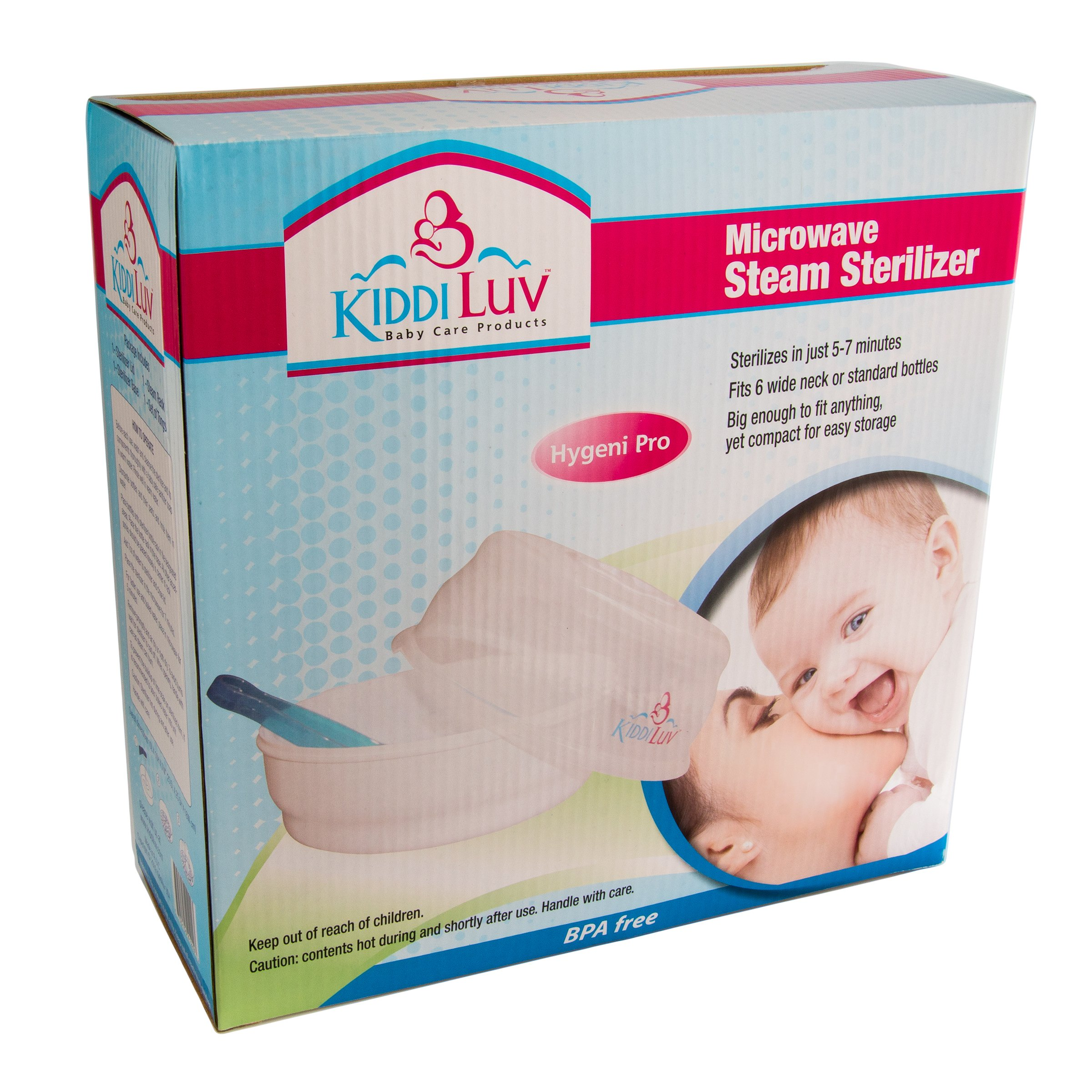 Kiddiluv Microwave Steam Sterilizer - Fits 6 Baby Bottles by Kiddiluv (Image #3)