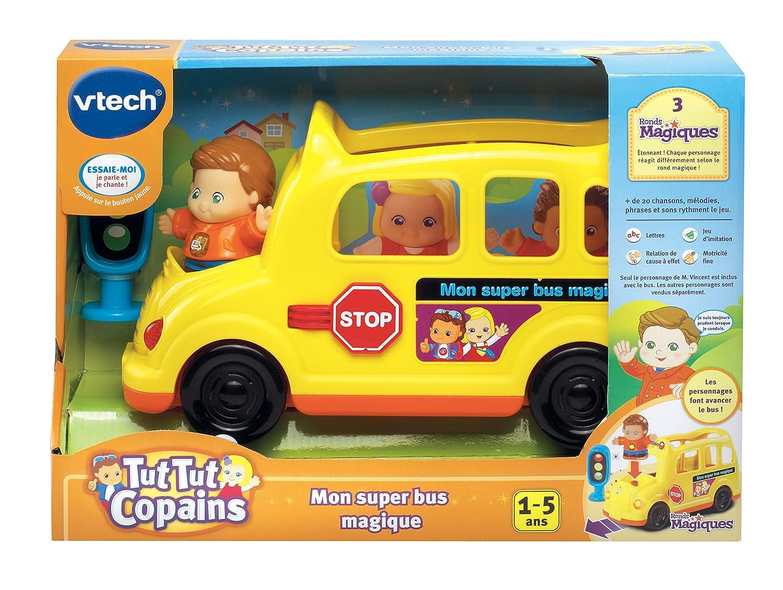 Vtech 162905 jouet musical tut tut copains mon super bus magique vincent mr prudent amazon fr jeux et jouets