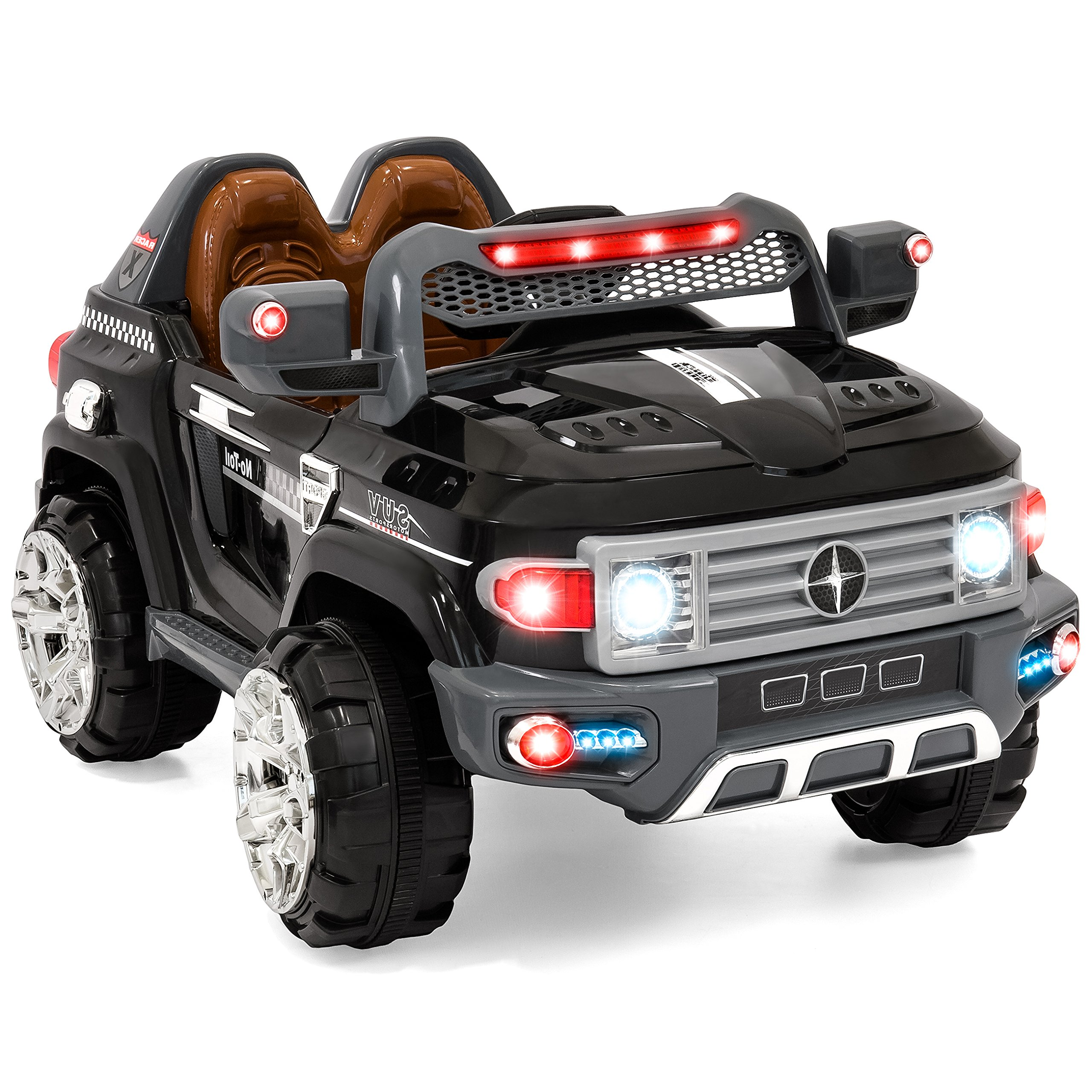Best Choice Products Kids 12V MP3 Truck Car with LED Lights, AUX & Music, Black by Best Choice Products