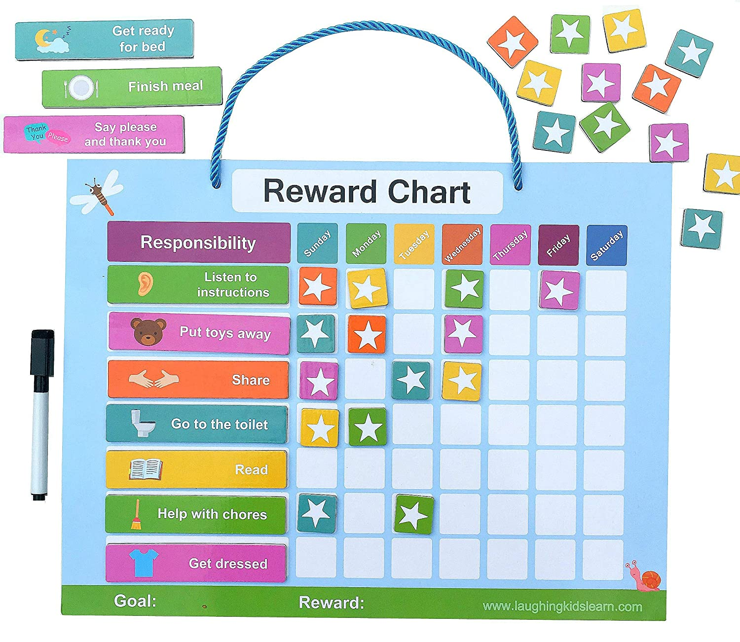 Amazon com reward chart for toddlers and reward chart for kids of