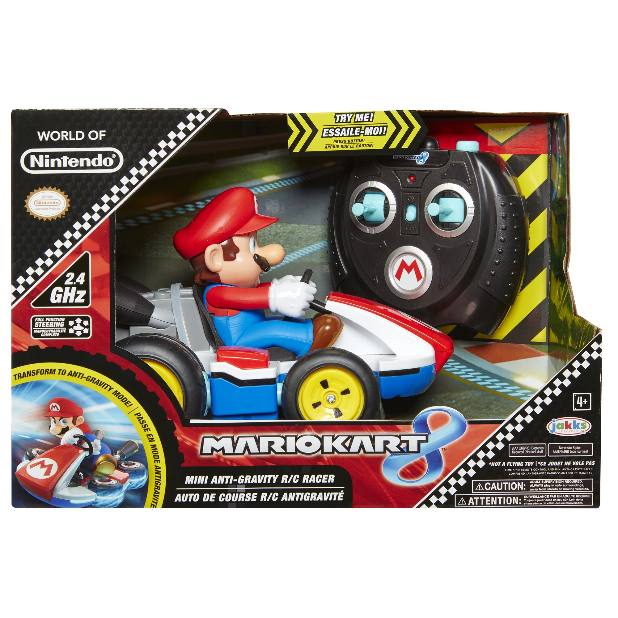 NINTENDO Super Mario Kart 8 Mario Anti-Gravity Mini RC Racer 2.4Ghz by Nintendo (Image #6)