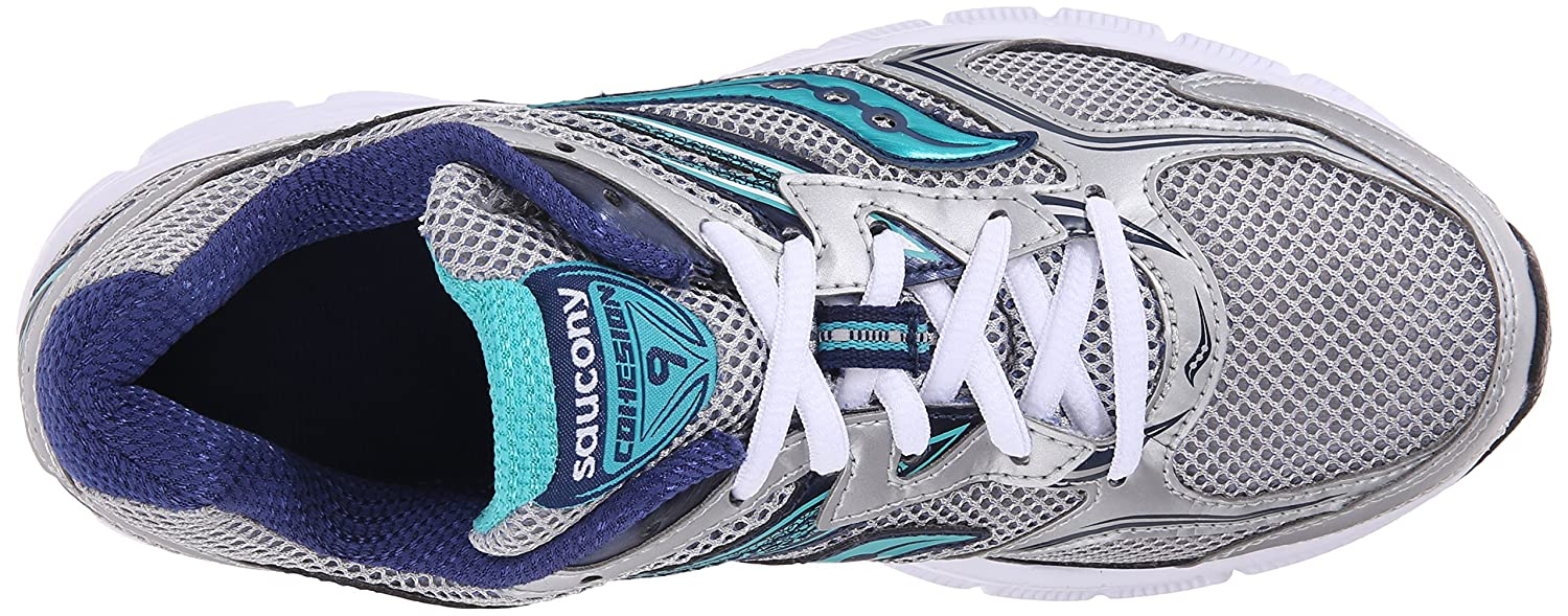 Saucony Women's Cohesion 9 Running Shoe B01018UPZU 7.5 B(M) US Silver/Navy/Teal