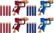 Lança Dardo Nerf Sonic Fire e Ice Jolt Pack Hasbro Vermelho/Azul