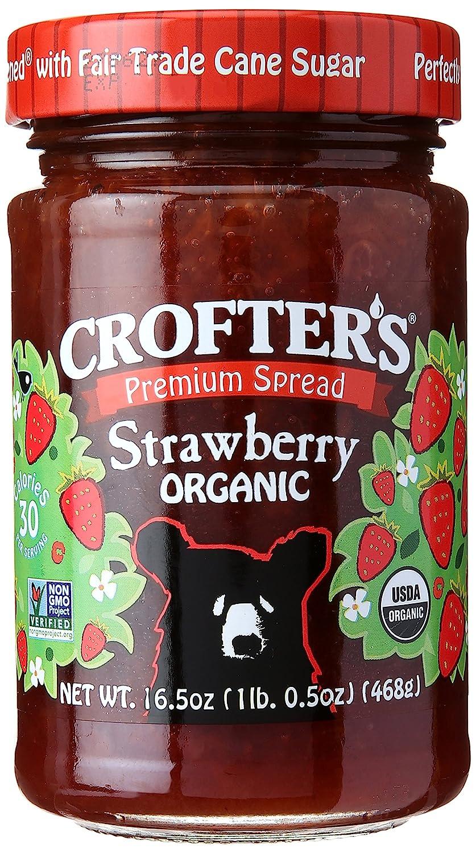 Crofter's Organic Premium Spread, Strawberry, 16.5 Ounce Jar