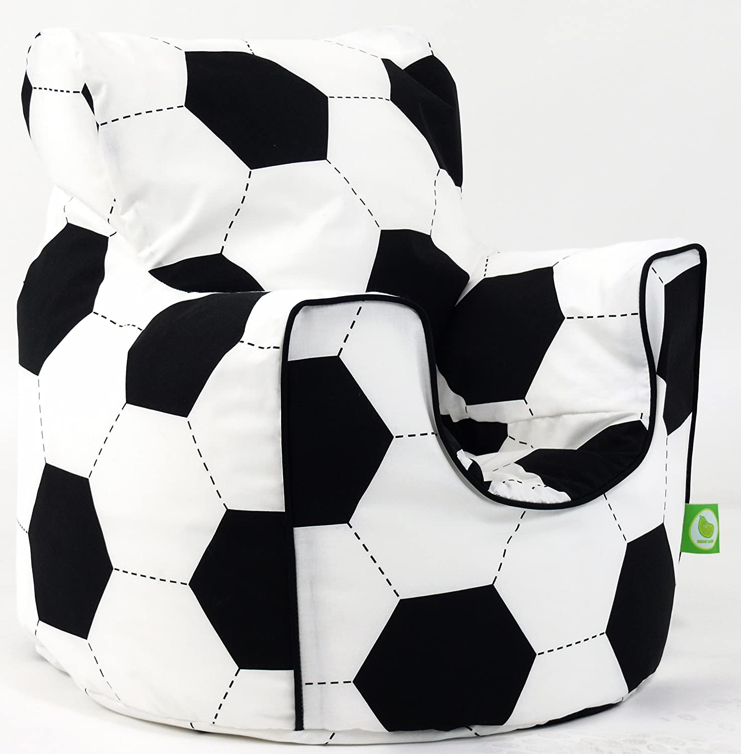 Cotton Football Bean Bag Arm Chair with Beans Child size BeanLazy
