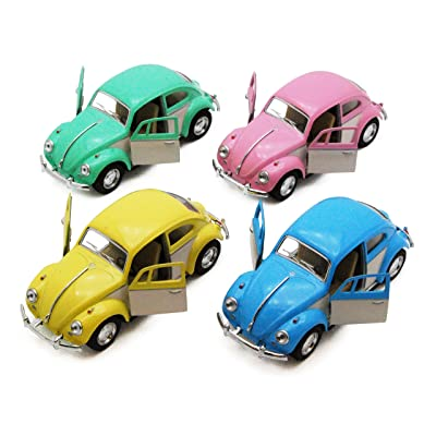 KiNSMART 1967 Volkswagen Classical Beetle, Set of 4 5375DY - 1/32 Scale Diecast Model Toy Cars: Toys & Games