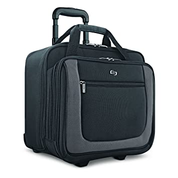Amazon.com  Solo Bryant 17.3 Inch Rolling Laptop Case, Black Grey, Amazon  Exclusive bdeae91df1