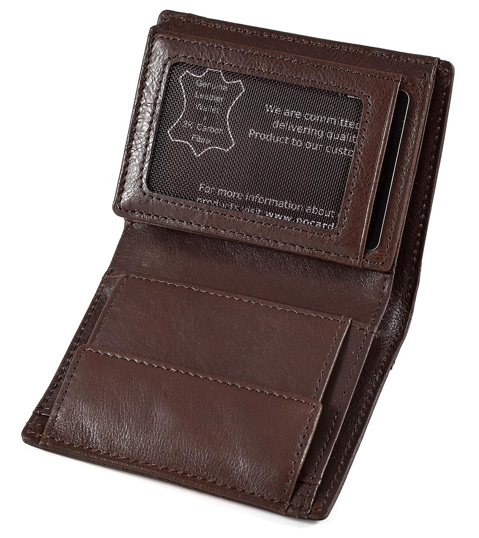 68eb8effa Cartera de Piel para Hombre   Tarjetero y Billetero   RFID Bloqueo   sin  Bolsillo para ...