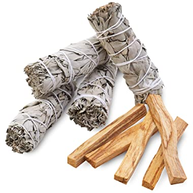 JL Local Smudging kit Refill - Sage & Palo Santo - Smudge, Spiritual Cleansing, Purifying, Home & Office