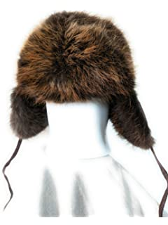 f736e8e4309 Fourrure Jackalope Fur Hat Made from Real Beaver Fur and Leather One Size  Fits All Winter