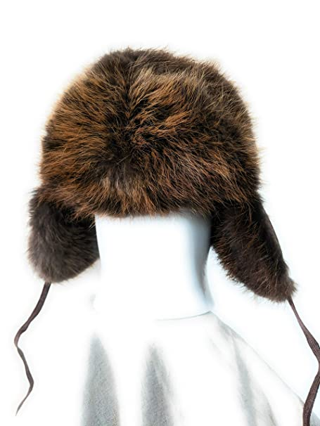Fourrure Jackalope Fur Hat Made from Real Beaver Fur and Leather One Size  Fits All Winter Trapper Style Hat Handmade in Canada with Canadian Fur   Amazon.ca  ... 4404fc954da8