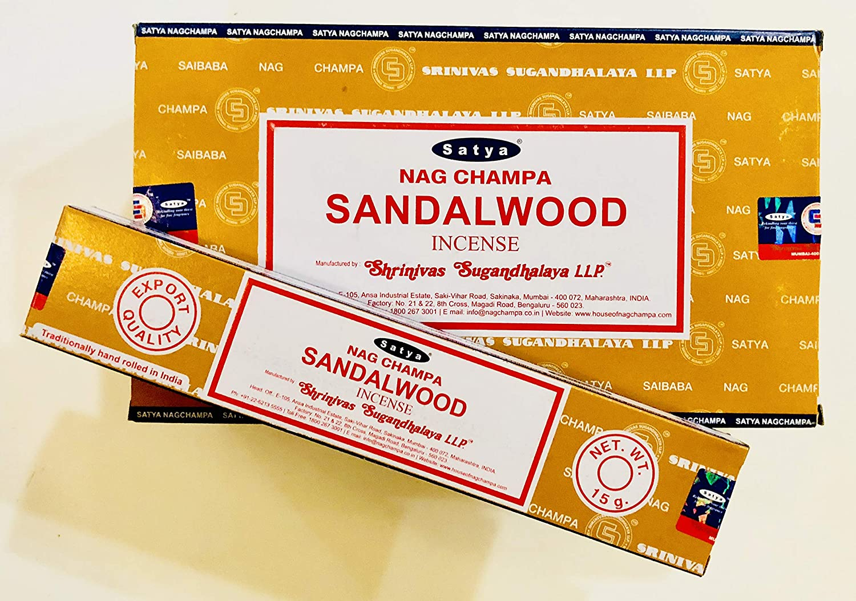 15g Each Incense Sticks Satya Nag Champa Sandalwood Incense Sticks Pack 6