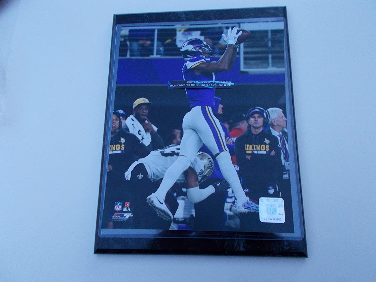 STEPHON DIGGS MINNESOTA VIKINGS MINNEAPOLIS MIRACLE CATCH PHOTO MOUNTED ON A