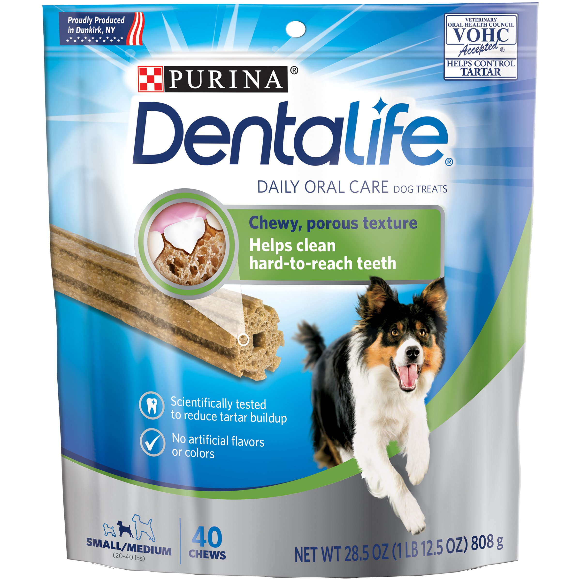 Purina DentaLife Daily Oral Care Small/Medium Adult Dog Treats - (1) 28.5 oz, 40 ct. Pouch