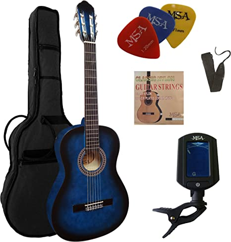 Set de guitarra clásica de concierto 4/4 C23 – azul sombreado ...