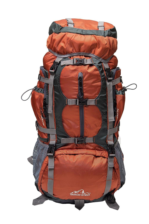 American Outback Glacier Internal Frame Hiking Backpack (Orange)   B01H0RLZ0O