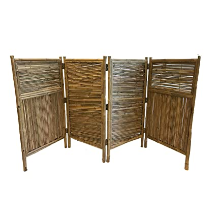 Superieur Master Garden Products Galvanized 4 Panel Bamboo Screen Enclosure, 24 By  48 Inch