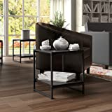 Madison Home Modern 16-inch Square Side Table / End Table / Coffee Table Black Black Finish