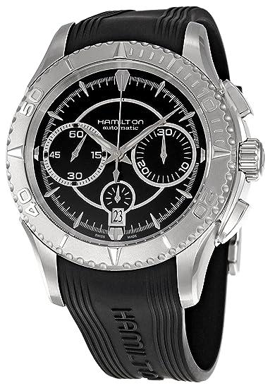 HAMILTON H37616331 - Reloj analógico automático para hombre, correa de goma color gris: Amazon.es: Relojes