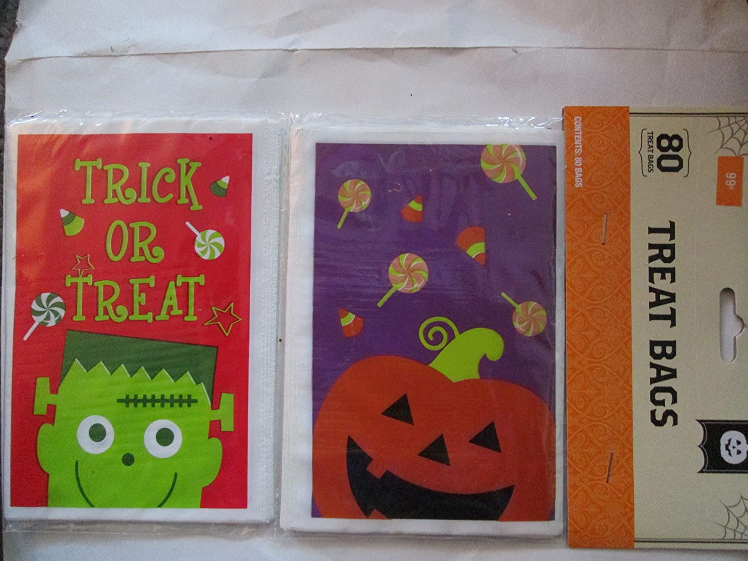 Halloween Party Packages.Eighty 5 X 6 Halloween Party Treat Bags Assorted Designs 3 Packages Of 80 Each 240 Bags Amazon In Home Kitchen