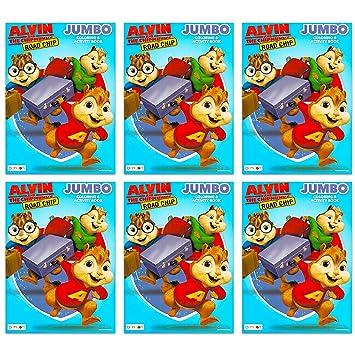Alvin And The Chipmunks Set Di 6 Libri Da Colorare Per Feste
