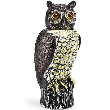 Bird Scarer | Life Sized 41X16 Cm Moving/Rotatable Head | Decorative Owl  Garden